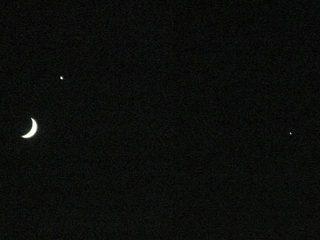 月と金星と木星