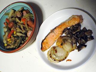鮭とポテト