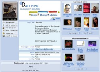 Daft Punk in Orkut
