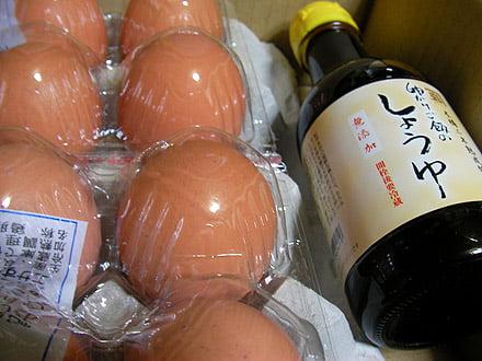 卵かけご飯のしょうゆ