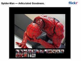 くずおれるスパイダーマン