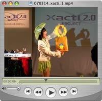 Xacti 2.0 マジシャンのお姉さん